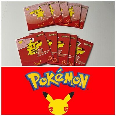 $40 • Buy (10) Pokemon 25th Anniversary McDonald's Happy Meal 2021 Sealed Booster Pack