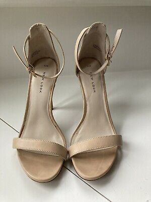 £8 • Buy New Look Ankle Strap High Heel Stiletto Beige Nude Sandals Size 5/38