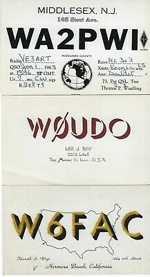 £5.76 • Buy United States - Small Lot Qsl Cards #3 Amateur Radio