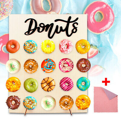 £10.99 • Buy 20PCS Donut Doughnut Wall Stand Party  Sweets Candy Cart Wedding Favour Birthday