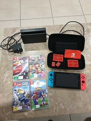 AU255 • Buy Nintendo Switch With 4 Games