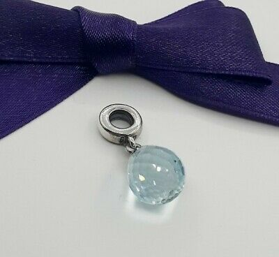 AU55 • Buy Genuine Pandora Ice Blue Hanging Faceted Murano Glass Drop Charm #791602CLB