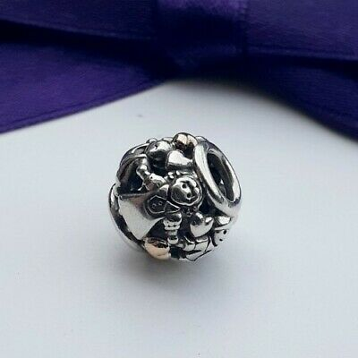AU62 • Buy Genuine Pandora Family Forever Hearts Two Tone Gold Silver Charm #791040 Retired