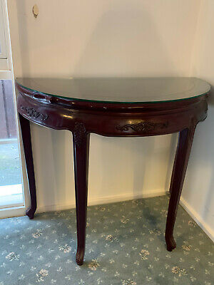 AU200 • Buy Solid Mahogany Half Moon Hall Table Side Table Console Table Antique Design