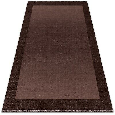 £169.95 • Buy Outdoor Balcony Entrance PVC Washable Rug Carpet Mat Brown Frame 150x225