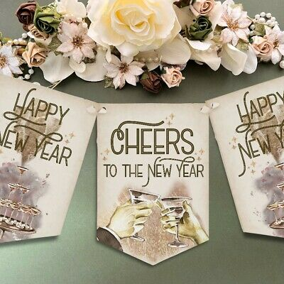 £6.49 • Buy New Years Eve Bunting 2022 Vintage Style Art Deco 1920s Theme Party NYE22 Decor