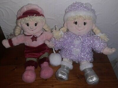 £8 • Buy Set Of Two 'Chilly And Friends' Emily Plush Dolls, Tesco, Mid 2000s