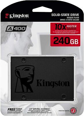 £28.50 • Buy New Kingston SSD A400 Solid State Drive 2.5 Inch SATA 3 - 240 GB, Black