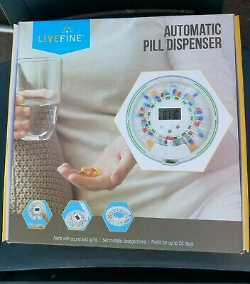 £43.71 • Buy LiveFine Automatic Pill Dispenser 28-Day Electronic Medication Organizer New