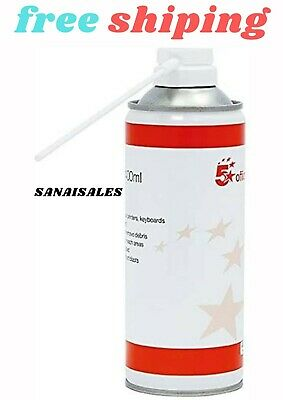 £4.27 • Buy 5 Star Air Duster Can HFC Free Compressed Gas Flammable 400ml