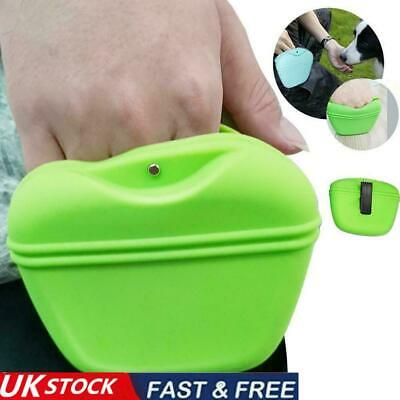 £6.91 • Buy Pet Dog Walk Training Treat Bag Pouch Puppy Silicone Snack Waist With Clip UK