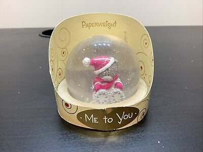 £14.95 • Buy Me To You Bear Paper Weight Figurine Ornament Figure Rare Snow Globe Look Winter