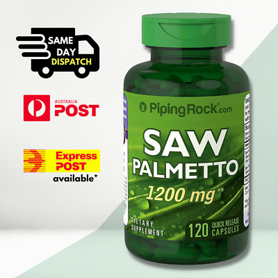 AU31.90 • Buy Piping Rock Saw Palmetto, 1200 Mg, 120 Quick Release Capsules