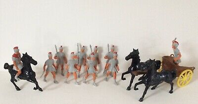 £48 • Buy Thomas Toys - Rare Roman Chariot With Driver, Mounted Officer + 10 Foot Soldiers