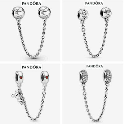 AU19.39 • Buy 925 Silver Pandora Safety Chain + Gift Box Mother's Day Valentine's Day Gift2021