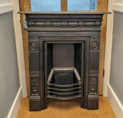 £275 • Buy Victorian Style Combination Cast Iron Fireplace Fire Surround Insert