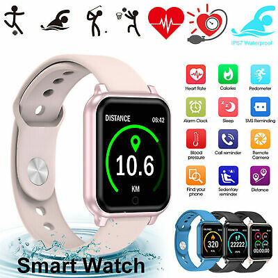 AU33.92 • Buy Waterproof Smart Watch Heart Rate Bracelet Women Gift For IPhone Android Samsung