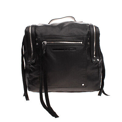 AU114.98 • Buy RRP €600 MCQ ALEXANDER MCQUEEN Leather Convertible Backpack Bag Crumpled Zipped