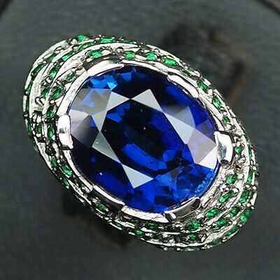 AU13.46 • Buy Sapphire Kashmir Blue Oval 7 Ct. 925 Sterling Silver Ring Size 8.5 Gift Women