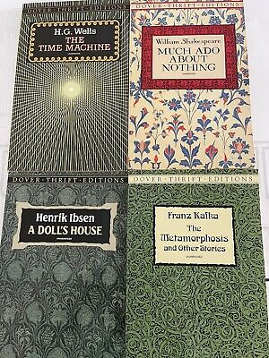 AU11.45 • Buy Lot 4 Dover Thrift Editions Shakespeare HG Wells IBSEN -Franz Kafka (See Photo)