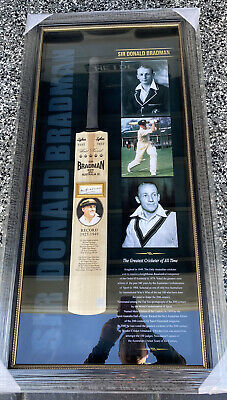 AU999 • Buy Sir Donald Bradman Signed Bat Display With Certificate Of Authenticity