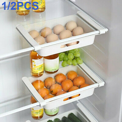 £9.99 • Buy 12 Grid Drawer Egg Fridge Storage Box Case Food Container Tray Holder Save Space