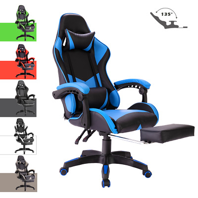 AU119.90 • Buy Executive Office Gaming Chair Computer Seating Racer Reclining W/Footrest Swivel