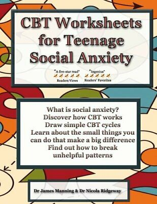 £12.99 • Buy CBT Worksheets For Teenage Social Anxiety: A CBT Workb... By Ridgeway, Dr Nicola
