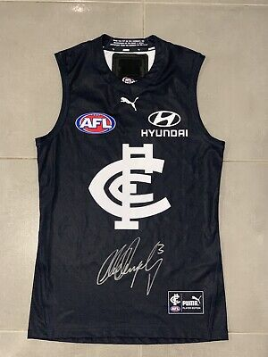 AU1000 • Buy Match Worn 2021 Marc Murphy Carlton Used Signed Jersey .  Comes With Coa 🔥🔥