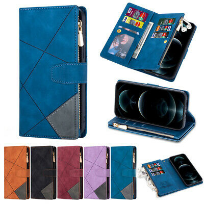 AU4.99 • Buy For IPhone 12 11 Pro Max XR XS SE 7 8 Leather Wallet Case Card Zipper Flip Cover