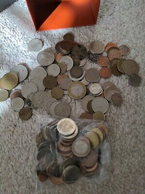 £20 • Buy 600 Grams Of Foreign Coins Joblot Inc Current 14 Euro Value For Exchange