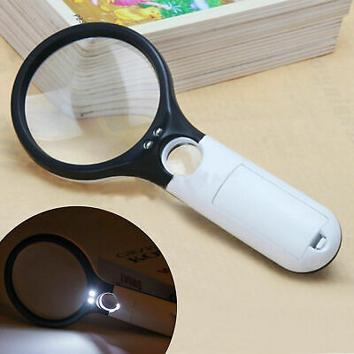 £3.45 • Buy Magnifying Glass 15x Magnifier Handheld Loupe 90mm Large Reading Jewellery Aid