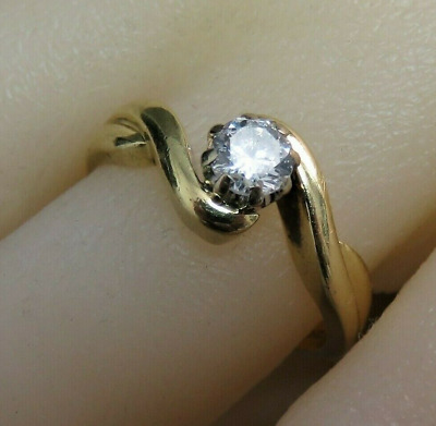 AU726.42 • Buy   18ct Gold & Diamond Solitaire Engagement Ring.  K 1/2.  Ref:xafod