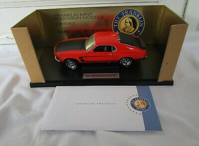 AU51.93 • Buy Franklin Mint 1969 Ford Mustang Boss 302 Diecast Model Car 1:24 Scale