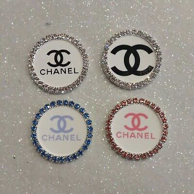 £2.99 • Buy 4 X 1  Inch 25mm Circle Rhinestone Bling Centres Bottle Cap Images