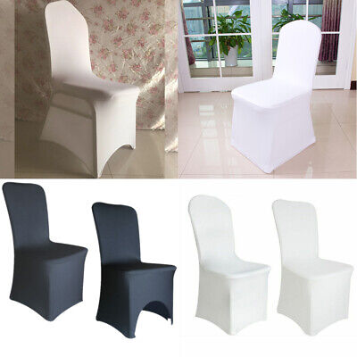 £21.99 • Buy 5/10/30/50/100Pcs Spandex Wedding Chair Covers Slip Seat Cover Stretch Removable