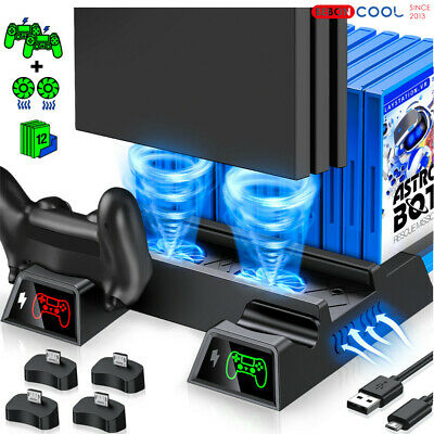 AU39.98 • Buy Stand Cooling Fan Controller Dual Charger Station For PlayStation 4 PS4 Slim/Pro