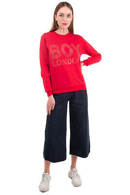 £0.99 • Buy BOY LONDON S Pullover Sweatshirt Size XS Rhinestoned Logo Front Made In Italy