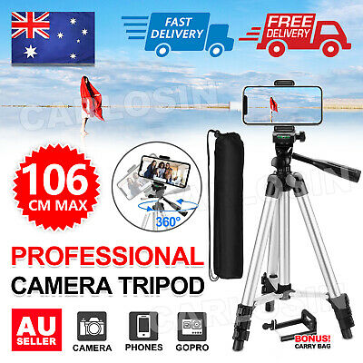 AU12.95 • Buy Universal Telescopic Camera Tripod Stand Holder Phone Mount For IPhone Samsung