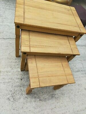 £30 • Buy Corona Mexican Pine Nest Of Tables