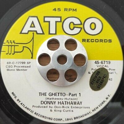 £7.28 • Buy DONNY HATHAWAY - The Ghetto - 45  RARE SOUL FUNK;ATCO 70'S