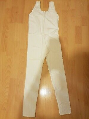 £1.99 • Buy White Lycra Long Sleeved Catsuit Dance Unitard Size 3A