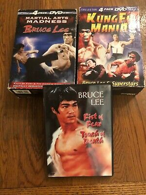 £20.34 • Buy 9 DVD Collection Boxed Sets Fist Of Fear, Touch Of Death Bruce Lee Li Le Lot Fu