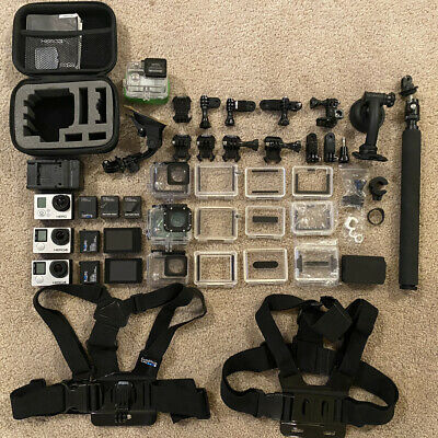 AU215.50 • Buy GoPro LOT 2x Hero 4s & 1x Hero 3 Lot With LOTS Of Accessories No Reserve Auction