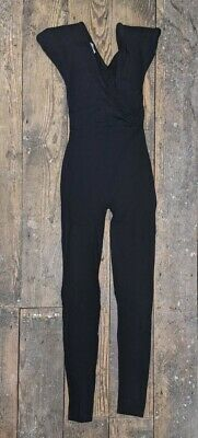 £4.99 • Buy Ladies American Dance Apparel Black Jersey All In One Jumpsuit Catsuit  Small