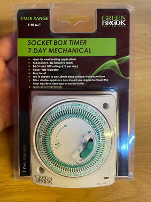 £11 • Buy Greenbrook T101A-C 7 Day Electrical Timer Switch 240V