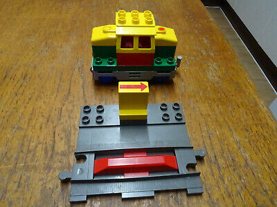 AU59.34 • Buy Lego Duplo Working Battery Electric Train With Stop/start Track Piece New Batts.