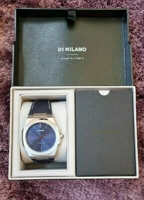 £170 • Buy D1 Milano Ultra Thin Nylon 40 MM Plus Extra Stainless Steel Silver Strap