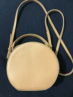AU85 • Buy Oroton Leather Circle Round Bag In Biscuit Colour