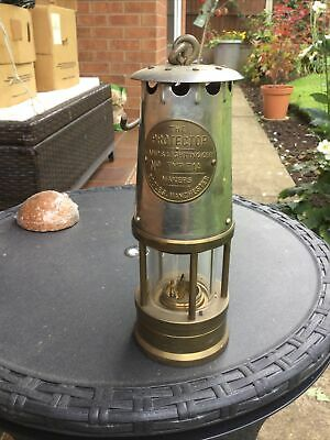 £30 • Buy Vintage Miner's Safety Lamp The Protector Eccles Type 1A, Lamp & Lighting Co Ltd